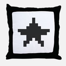 Old School Star Throw Pillow
