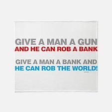 Give a Man A Gun Throw Blanket