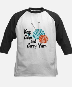 Keep Calm and Carry Yarn Kids Baseball Jersey