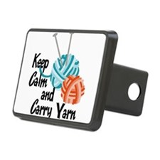 Keep Calm and Carry Yarn Hitch Cover