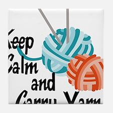Keep Calm and Carry Yarn Tile Coaster