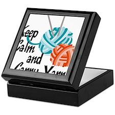 Keep Calm and Carry Yarn Keepsake Box
