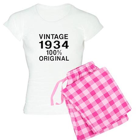 Vintage 1934 Birthday Desig Women's Light Pajamas