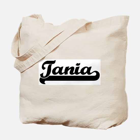 Black jersey: Tania Tote Bag