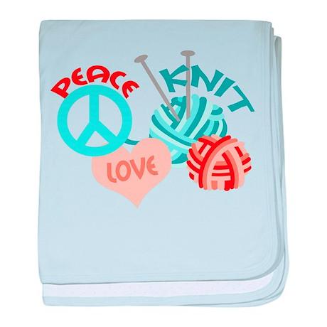 Peace Love Knit baby blanket