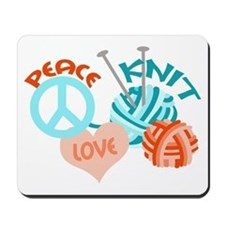 Peace Love Knit Mousepad