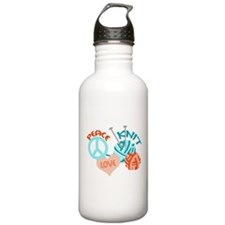 Peace Love Knit Water Bottle