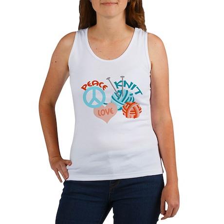 Peace Love Knit Women's Tank Top