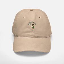 Lacrosse Player in Green Baseball Baseball Cap