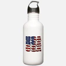 USA USA USA 4th July Water Bottle