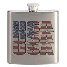 USA USA USA 4th July Flask