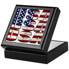 USA USA USA 4th July Keepsake Box