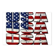 USA USA USA 4th July Postcards (Package of 8)