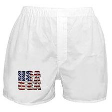 USA USA USA 4th July Boxer Shorts