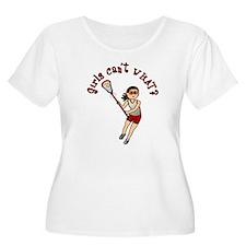 Girls Lacrosse Red T-Shirt