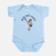 Girls Lacrosse Blue Infant Bodysuit