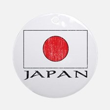 Japan Flag Ornament (Round)