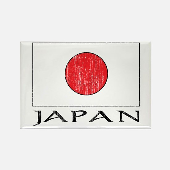 Japan Flag Rectangle Magnet
