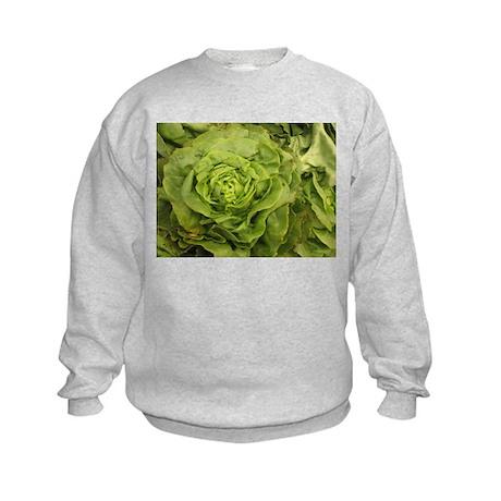 romantic ruffly lettuce Kids Sweatshirt