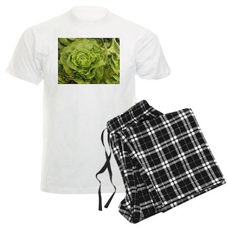 romantic ruffly lettuce Men's Light Pajamas