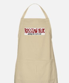 Russian Blue JUST A CAT BBQ Apron