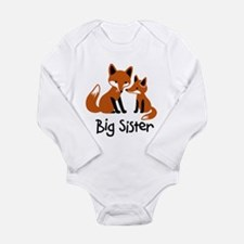 Big Sister - Mod Fox Long Sleeve Infant Bodysuit