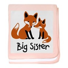 Big Sister - Mod Fox baby blanket