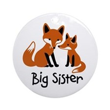 Big Sister - Mod Fox Ornament (Round)