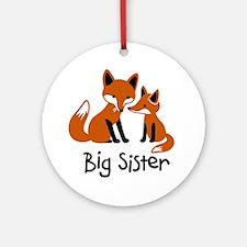 Big Sister - Mod Fox Ornament (Round)
