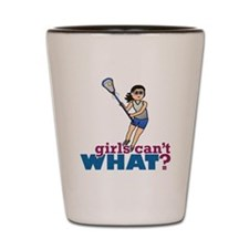 Girl Lacrosse Player in Blue Shot Glass