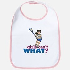 Girl Lacrosse Player in Blue Bib