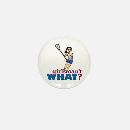Girl Lacrosse Player in Blue Mini Button