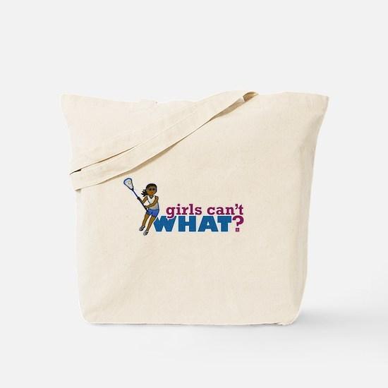 Lacrosse Girls Blue Uniform Tote Bag