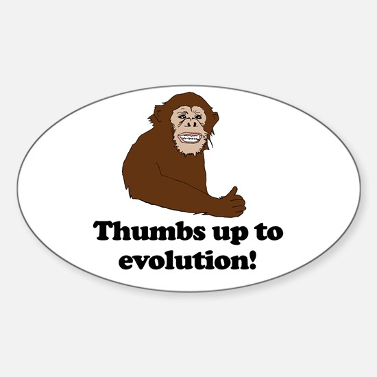 Thumbs up to Evolution! Oval Decal