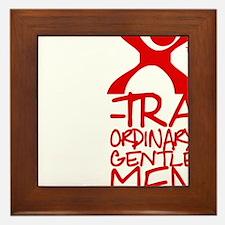 X-Traordinary Gentlemen - RED Framed Tile