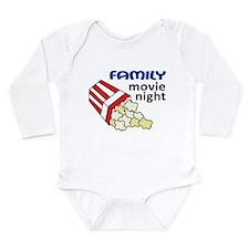 Family Movie Night Long Sleeve Infant Bodysuit
