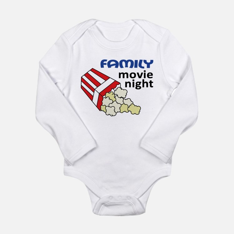 Family Movie Night Long Sleeve Infant Bodysuit