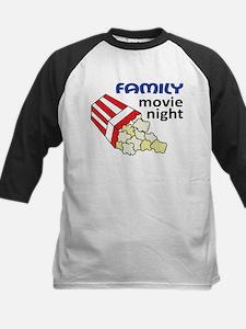 Family Movie Night Kids Baseball Jersey