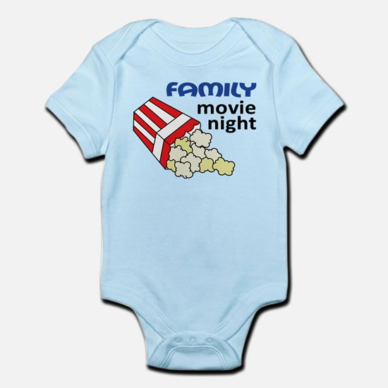 Family Movie Night Infant Bodysuit