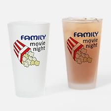 Family Movie Night Drinking Glass