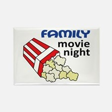 Family Movie Night Rectangle Magnet