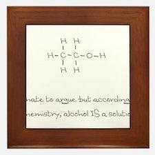 Alcohol is a solution Framed Tile