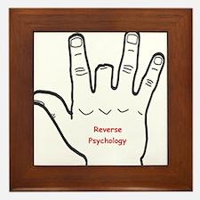 Reverse Psychology Framed Tile