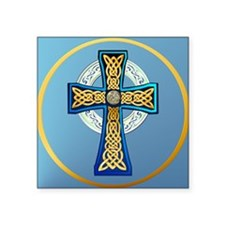 Big Blue Celtic Cross Sticker
