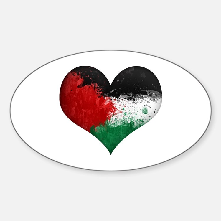 Palestine Heart Decal