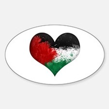 Palestine Heart Sticker (Oval)