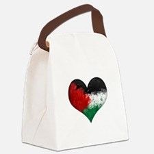 Palestine Heart Canvas Lunch Bag