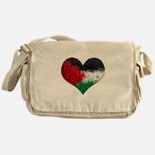 Palestine Heart Messenger Bag