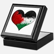 Palestine Heart Keepsake Box