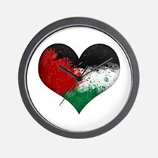 Palestine Heart Wall Clock